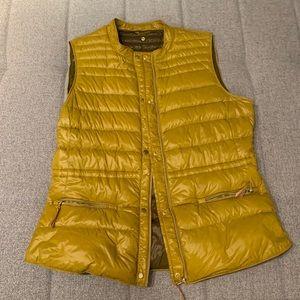 Zara Mustard Puffy Vest